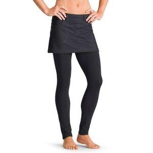 Athleta Bettona black denim Mini 2 in 1 skirt XS